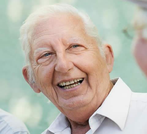 elderly man with white hair