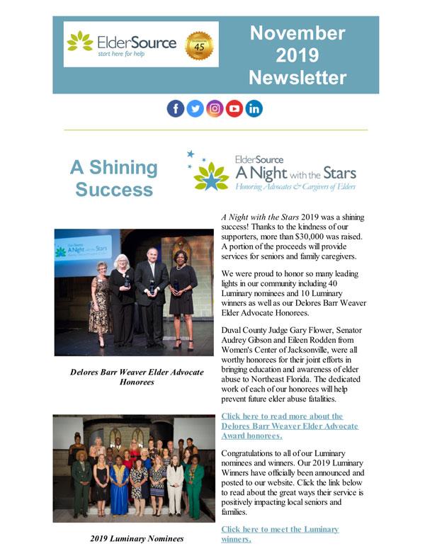 Nov 2019 Newsletter