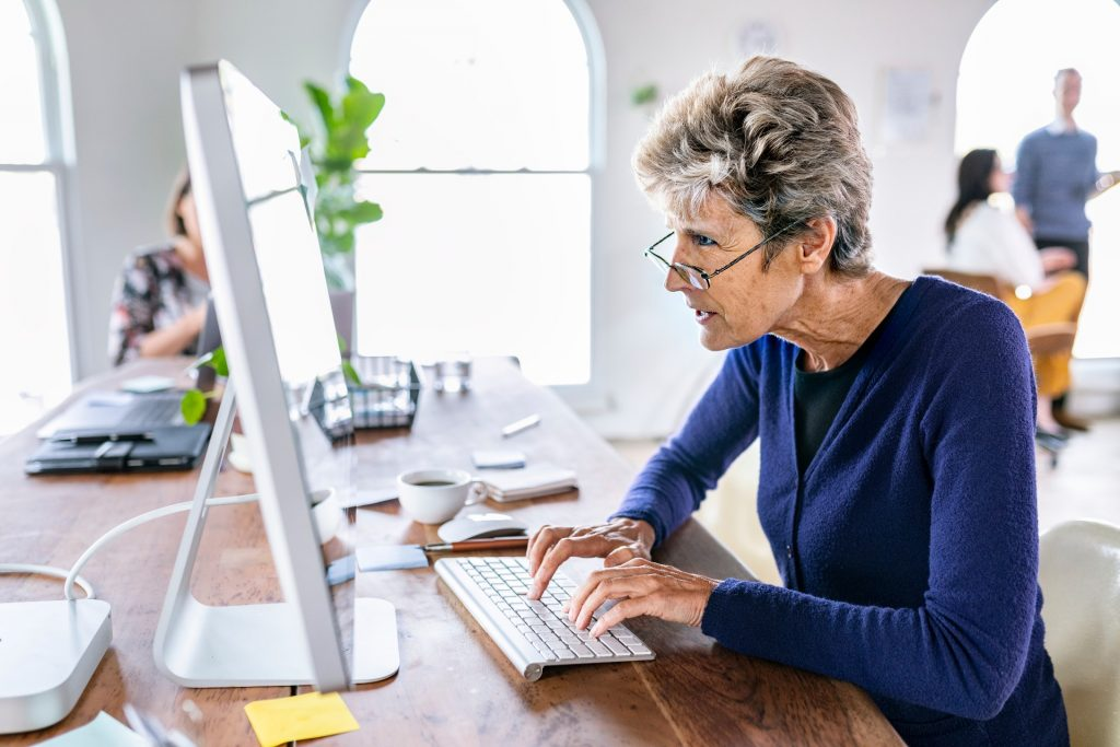 Woman on Computer Resources Resized